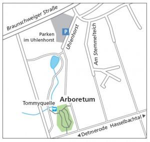 Lageplan Arboretum